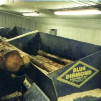 Blue Diamond Standard Twin Box Shavings Machine 2 x 2.6m Log Boxes up to 6 tonnes of Wet Shavings per Hour