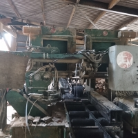 Complete Sawmill including Stenner 54in Bandmill and Carriage, MEM Twin 105 Resaw modified for lengths up to 22ft, Haas Chipper Model Y225M-4 with Vibrating Infeed and 2 Outfeed Scraper Conveyors and Paul Up-cut Crosscut Saw